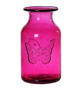 """Ваза """"Бабочка"""" розовая"""