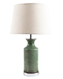 Лампа настольная с керамическим бирюзовым основанием