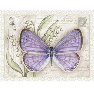 """Панно """"Фиолетовая бабочка"""" 30х40 см"""