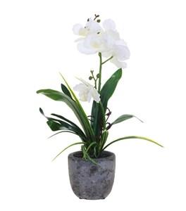 """Цветок искусственный """"Орхидея в горшке"""" в ассортименте"""