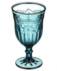 """Бокал """"Версаль"""" синий 300 мл из цветного стекла"""