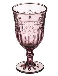 """Бокал """"Версаль"""" розовый 280 мл из цветного стекла"""