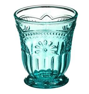 """Стакан """"Версаль"""" бирюзовый 250 мл из цветного стекла"""