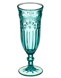 """Бокал для шампанского """"Версаль"""" бирюзовый 200 мл из цветного стекла"""