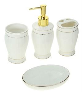"""Набор для ванной """"Античность"""" белый из четырех предметов"""