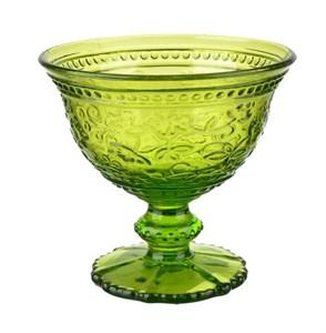 """Креманка """"Валенсия"""" зеленая 200 мл из цветного стекла"""