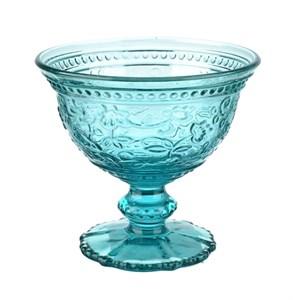 """Креманка """"Валенсия"""" голубая 200 мл из цветного стекла"""