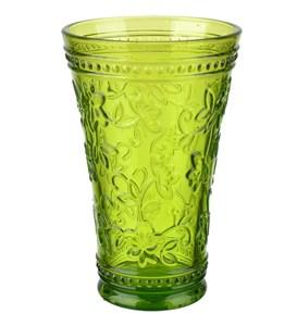"""Стакан """"Валенсия"""" зеленый 430 мл из цветного стекла"""