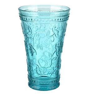 """Стакан """"Валенсия"""" голубой 430 мл из цветного стекла"""
