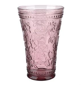 """Стакан """"Валенсия"""" розовый 430 мл из цветного стекла"""