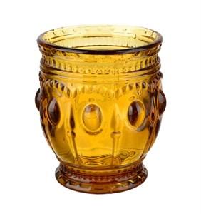 """Стакан """"Самоцвет"""" желтый 250 мл из цветного стекла"""