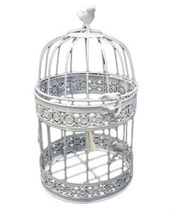 Клетка декоративная большая с птичкой