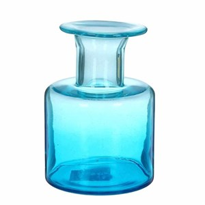 Ваза стеклянная синяя 16 х19 см
