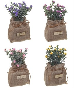 Цветы искусственные в мешочке в ассортименте