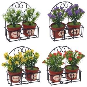 Цветы искусственные на подставке в ассортименте