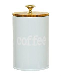 """Банка для хранения """"Кофе"""" 750 мл металлическая с герметичной крышкой"""
