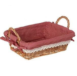 Корзинка большая прямоугольная с красной подкладкой