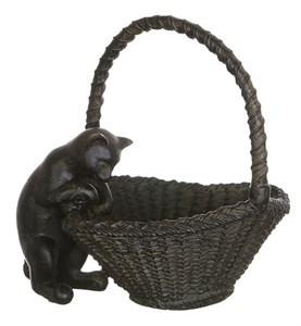 "Статуэтка ""Кошка с корзиной"""