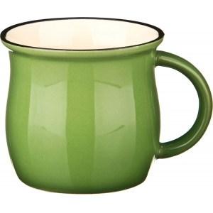 Кружка керамическая зеленая 300 мл