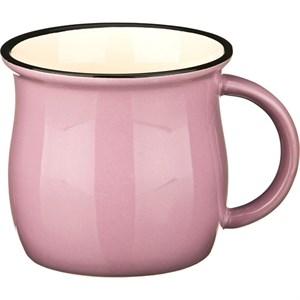 Кружка керамическая розовая 300 мл