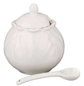 """Сахарница """"Белый цветок"""" 300 мл"""