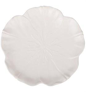 "Блюдо ""Белый цветок"" диаметр 25 см"