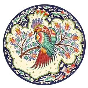 """Блюдо керамическое """"Попугай"""" диаметр 31 см"""