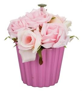 """Цветы искусственные """"Розы в кашпо"""""""