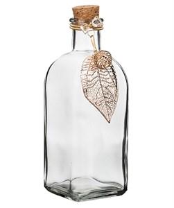 Бутылочка стеклянная с пробкой 7х20 см