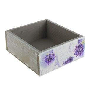 "Ящик деревянный средний ""Лаванда Прованса"" 24х26 см"