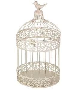 Клетка декоративная большая круглая с птичкой