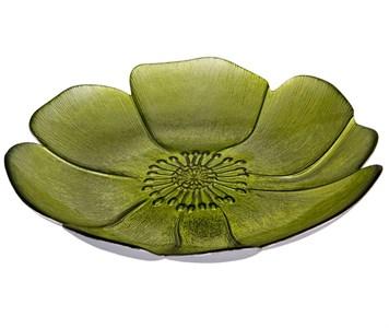 "Блюдо стеклянное ""Цветок"" диаметр 21 см"
