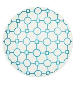 """Тарелка """"Голубые узоры"""" диаметр 19 см в ассортименте разные цвета"""
