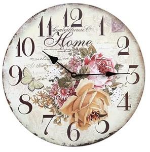 """Часы настенные """"Дом с розами"""""""