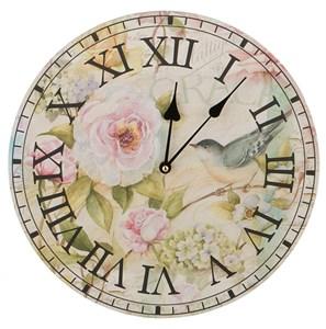 """Часы настенные """"Птица на розе"""""""