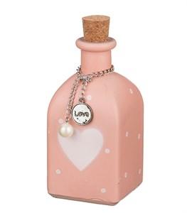 """Бутылочка """"Розовое сердце"""" 6,5х13,5 см"""