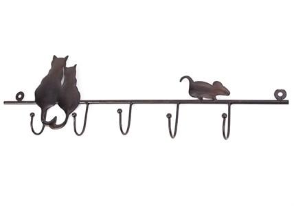 """Вешалка настенная """"Кошки и мышка"""""""