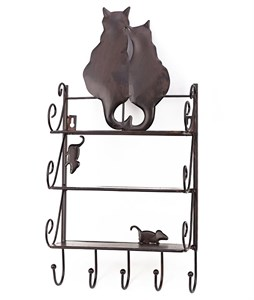 """Полка настенная """"Кошки и мышка"""""""