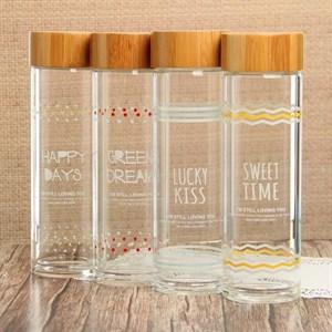 Бутылка стеклянная 500 мл в ассортименте
