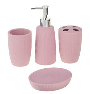 Набор для ванной розовый цвет