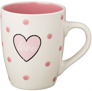 """Кружка """"Сердце"""" 350 мл розовая"""
