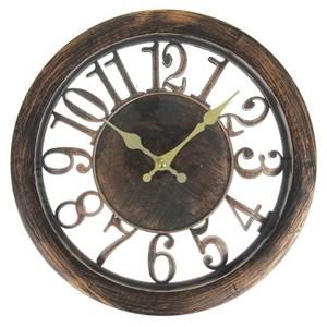 """Часы настенные """"Цифры"""" бронза"""