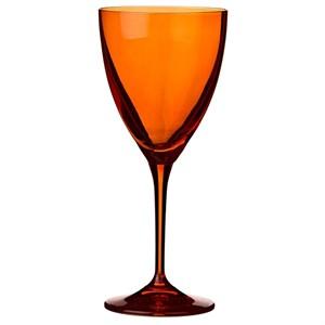Бокал для вина стеклянный оранжевый 250 мл