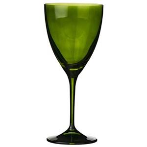 Бокал для вина стеклянный зеленый 250 мл
