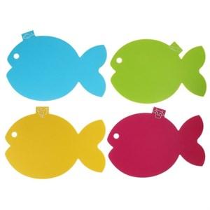 """Набор из четырех разделочных досок """"Рыба"""""""