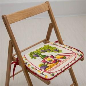 "Подушка на стул ""Виноград"" 41х36 см"