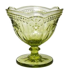 """Креманка """"Версаль"""" зеленая 200 мл из цветного стекла"""