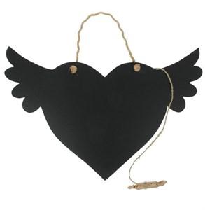 """Грифельная доска для заметок """"Сердце с крыльями"""" 42х30 см"""