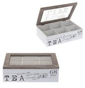 Шкатулка для чайных пакетиков на шесть отделений