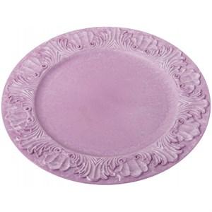 "Поднос ""Винтаж"" розовый диаметр 36 см"
